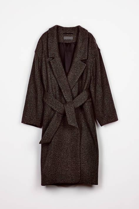 Lemaire — Tweed Coat - Grey Marl