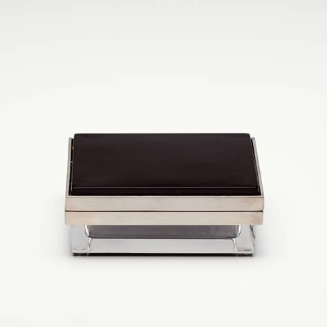 Flair — Small Rectangular Black Crystal Box with Nickel