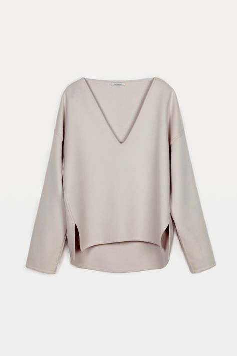Protagonist — Pullover 01, Sculptural Wool - Dusty Blush
