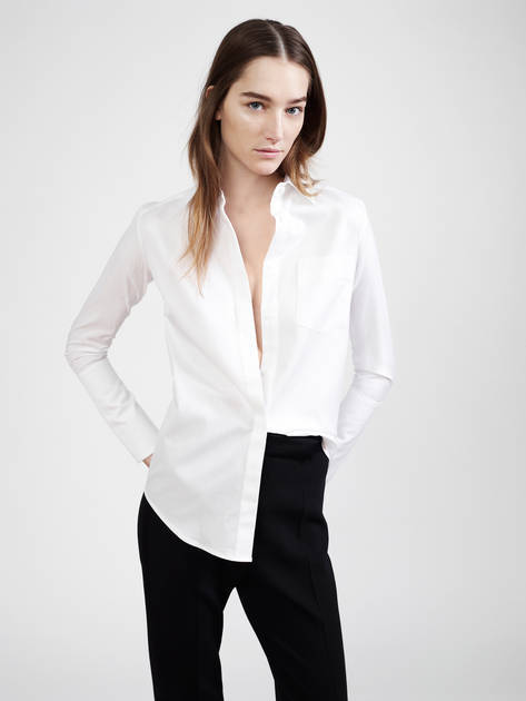 Protagonist  Shirt 01, Shirting – White, Pallas Venus Trousers – Noir