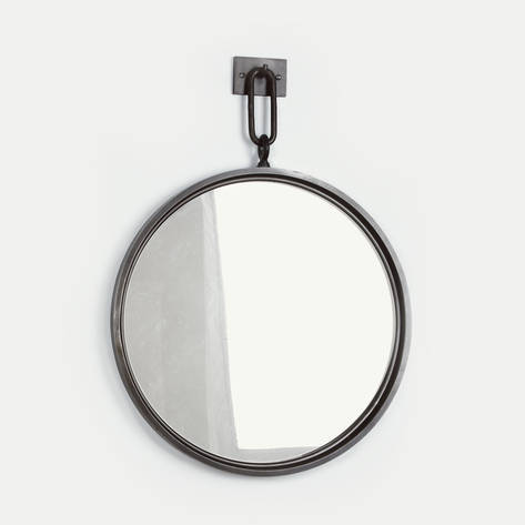 Jonathan Burden Circular Steel Mirror With Antiqued