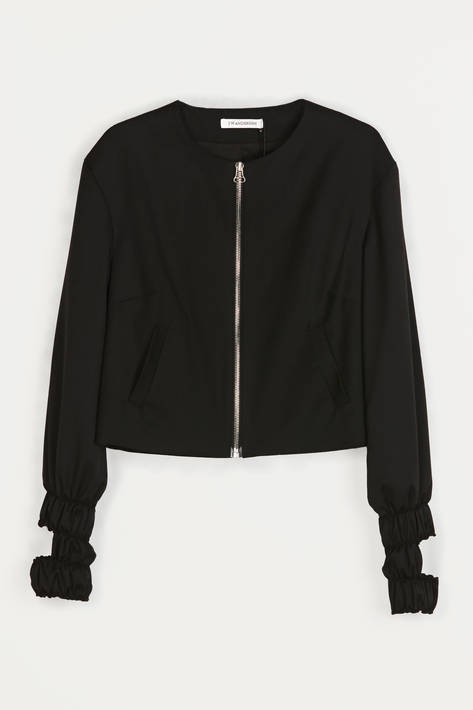 J.W. Anderson — Wool Cut Out Bomber - Black Wool