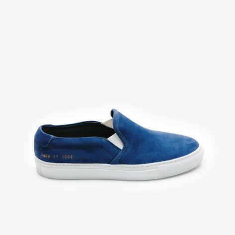 Woman by Common Projects — Slip-On in Suede - Blue