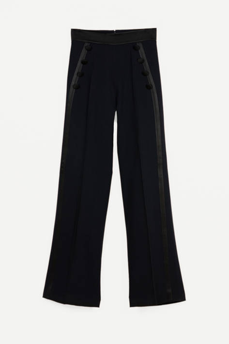 Pallas — Sirah Sailor Pants - Marine/Noir