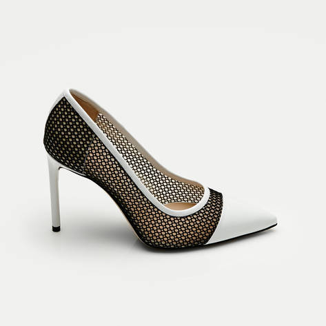 Reed Krakoff — Mesh Academy Pump - White Black