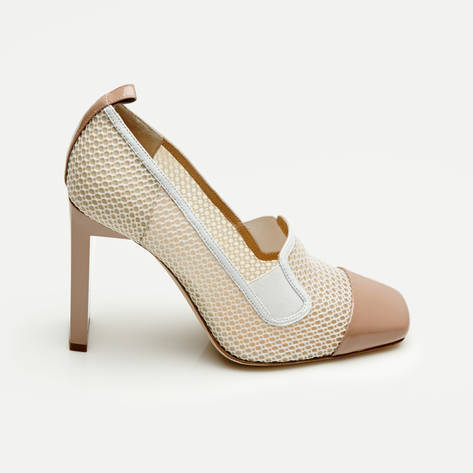 Reed Krakoff — Mesh Atlas Pump - Nude/White