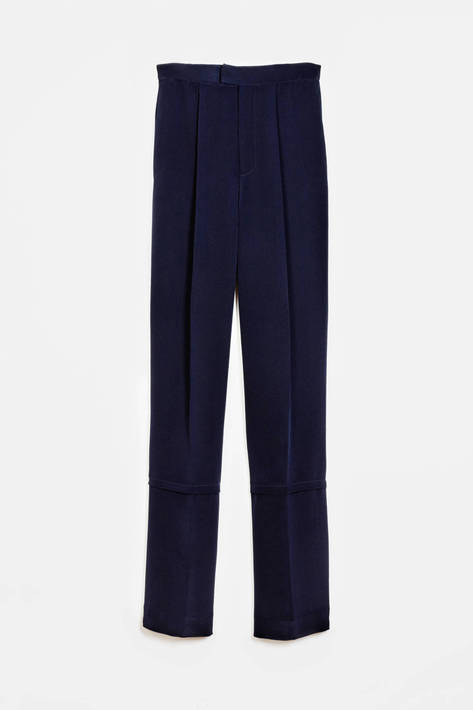 Protagonist — Trouser 04 Wide Leg Trouser - Navy