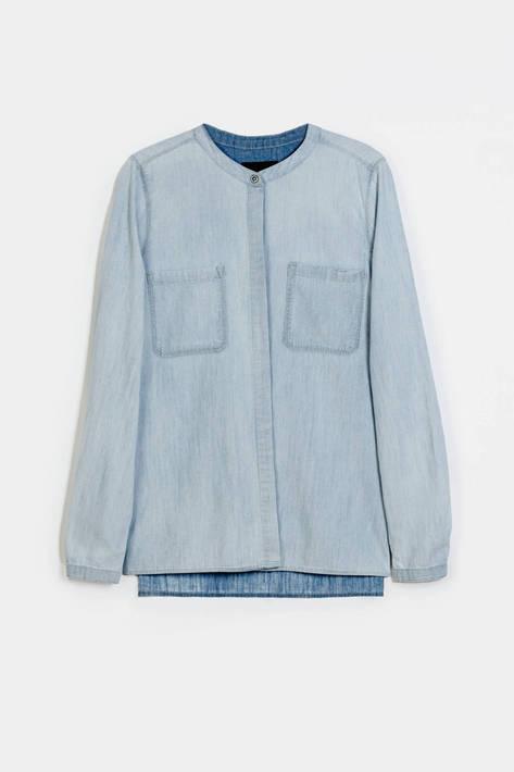 Vince — L/S Patch Pocket Shirt - Potassium Cloud