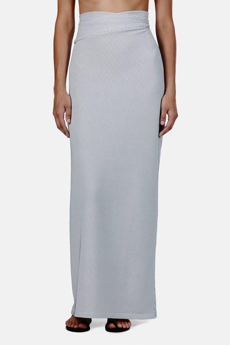 J.W. Anderson — Jersey Skirt - Stripe
