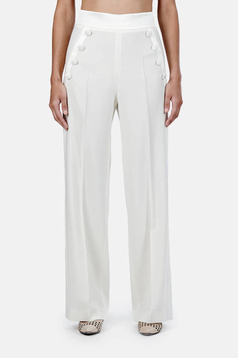 Pallas — Sirah Sailor Pants - Blanc