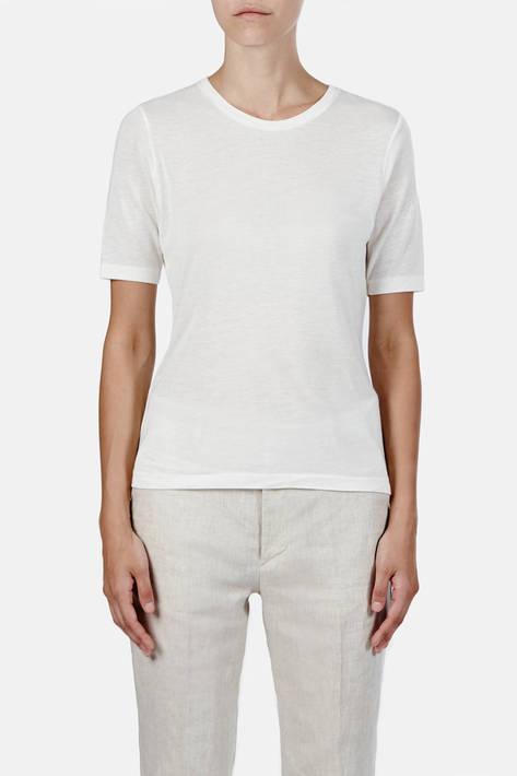 Toteme — Stockholm T-Shirt - Marshmallow White