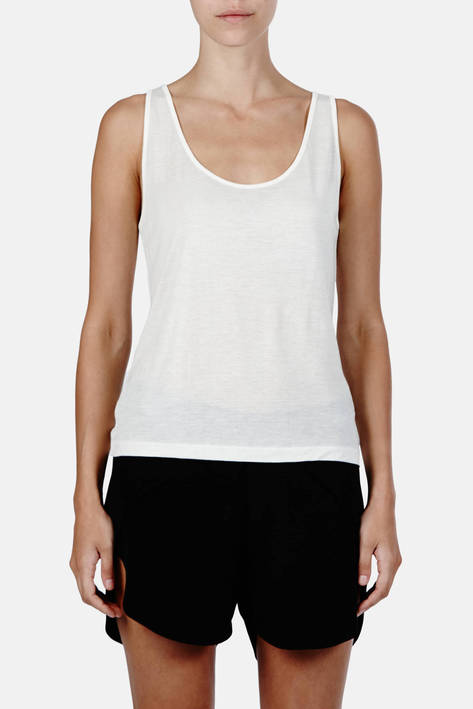 Toteme — Siena Tank Top - Marshmallow White