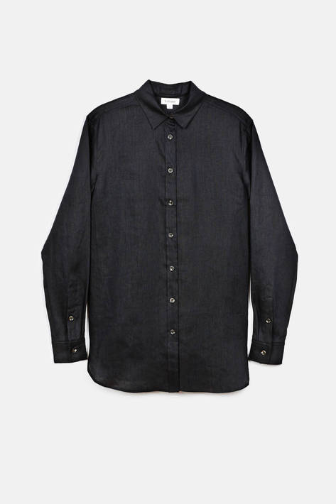 Toteme — Montauk Shirt - Black Washed Linen