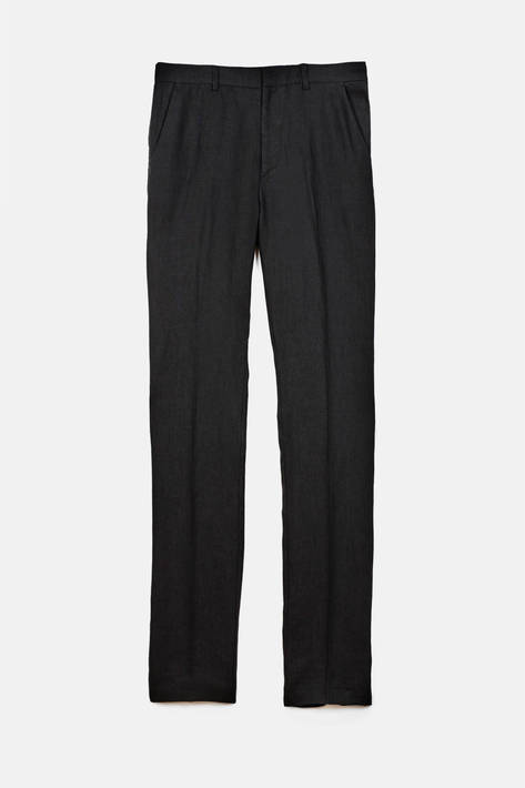 Toteme — Mayfair Pants - Black Washed Linen