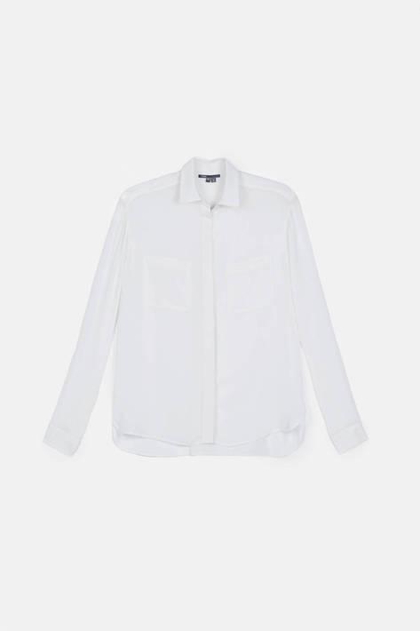 Vince — L/S Button Up Shirt - White