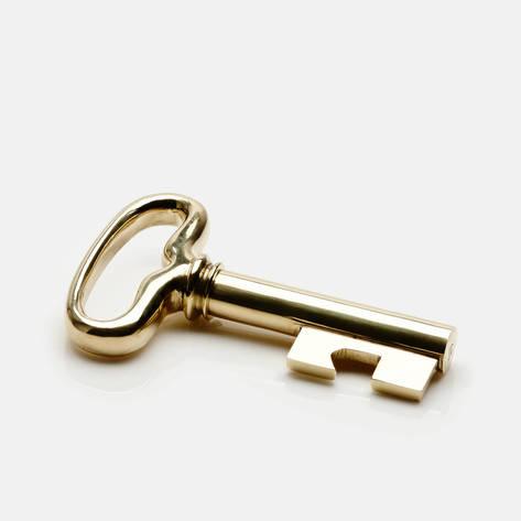 Carl Aubock — Key Corkscrew - Polished Brass/Steel