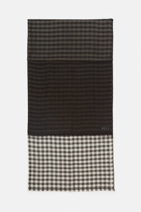 Melt — Krishna Shaded 2 Color Checks Scarf
