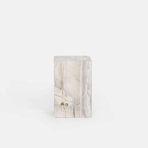 Andrianna Shamaris — White Petrified Wood Column