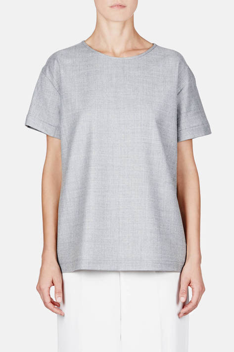 Protagonist — T-Shirt 03 Oversize T - Heathered Grey