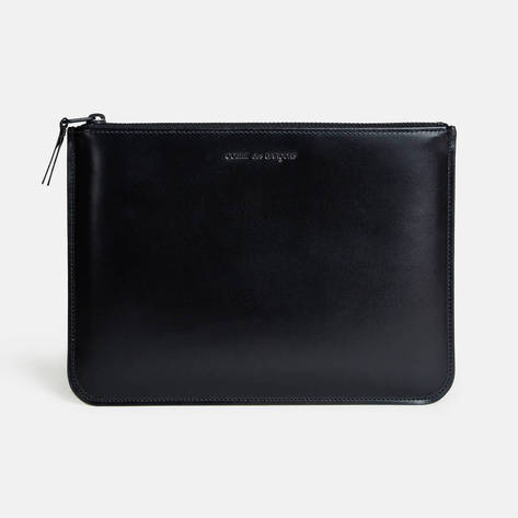 Comme des Garcons — Very Black Large Zip Top Pouch