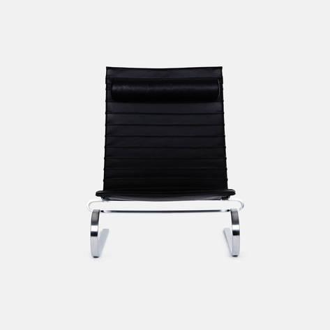 Fritz Hansen — PK20 Lounge Chair - Black Leather