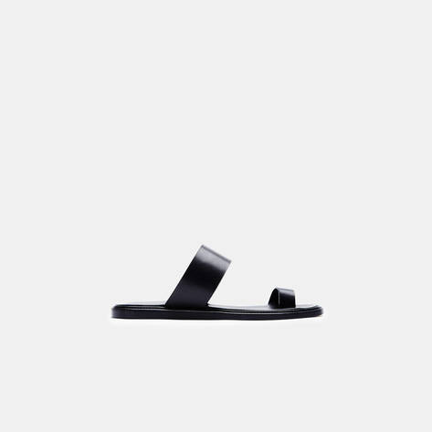 Woman by Common Projects — Minimalist Sandal in Leather - Black