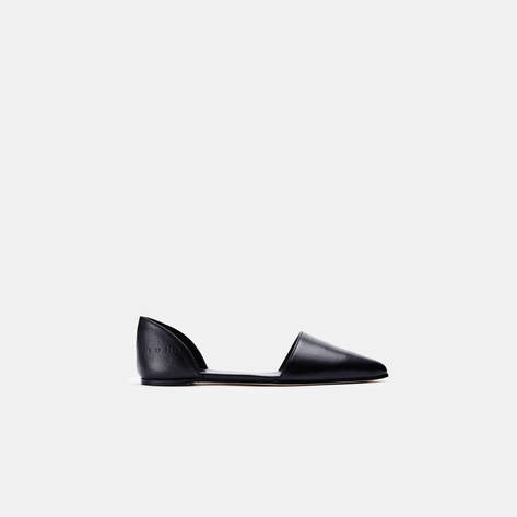 Woman by Common Projects — Flat Sandal in Leather - Black