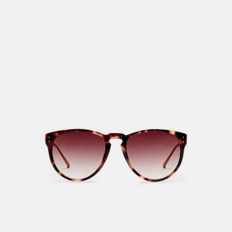 Linda Farrow — T-Shell/Rose Gold/Brown Grad Lens