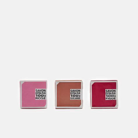 Compagnie de Provence — 3 Soap Set - Rose, Fig, Olive Lavender