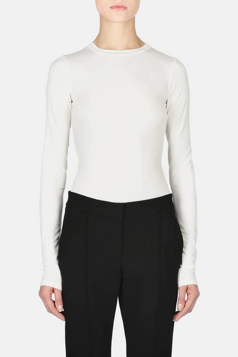 Protagonist — Bodysuit 02 Extended Sleeve Bodysuit - Ivory