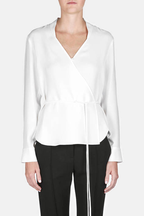 Protagonist — Shirt 10 Wrap Blouse - Ivory