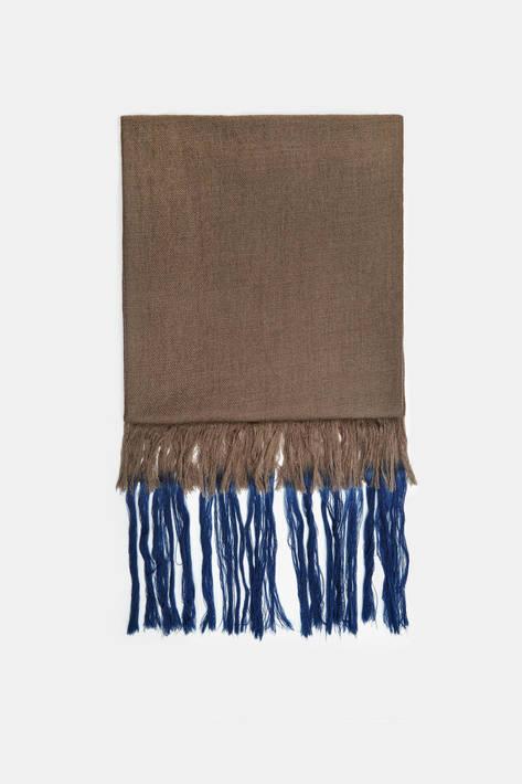 Melt — Kumal Kumari Bahini Tie Dye Fringe Scarf - Mud/In the Navy