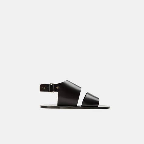 ATP Atelier — Leila Sandal - Black Vachetta
