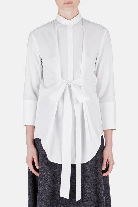 Protagonist — Tunic 07 Panel Tunic with Tie - White