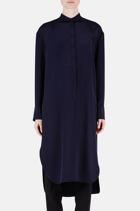 Protagonist — Tunic 08 Exaggerated Tunic with Plastron - Navy