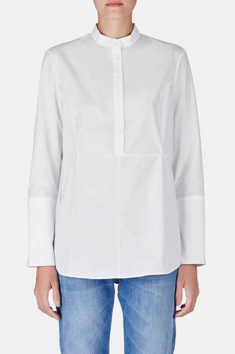 Protagonist — Shirt 20 Collarstand Shirt with Princess Seams - White