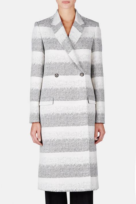 Brock Collection — Stripe DB Coat - Black/White