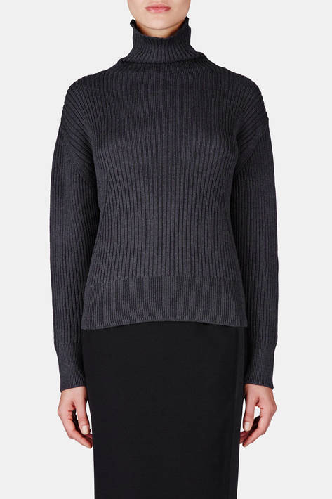 Toteme — Verbier Turtleneck - Dark Grey