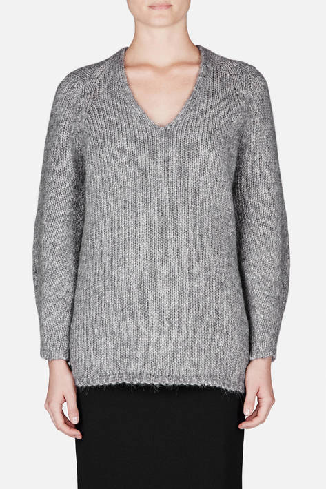 Soyer — Walker Diamond Neck Pullover - Marble