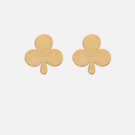 Camilla Dietz Bergeron — Gold Suit Club Earrings