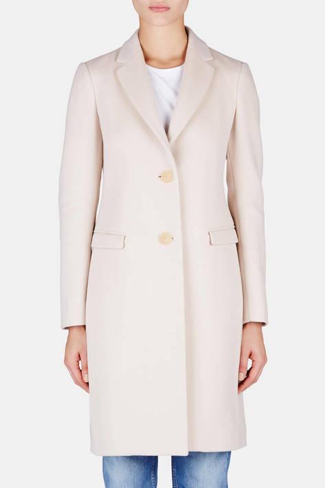 Calvin Klein Collection — Double Wool Cashmere Coat - Sandstone