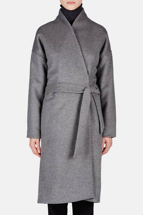 Toteme — Chelsea Coat - Dark Grey