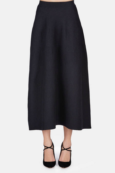 Calvin Klein Collection — Felted Skirt - Black