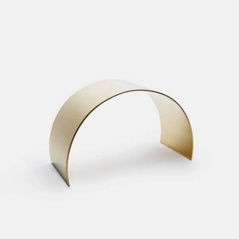 ASH — Unlacquered Brass Curved Arc Stool