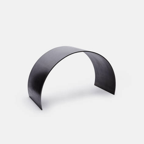 ASH — Waxed Steel Curved Arc Stool