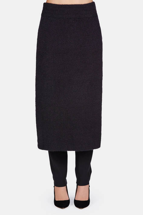 Protagonist — Sweater 14 Ribbed Apron with Side Slits - Black