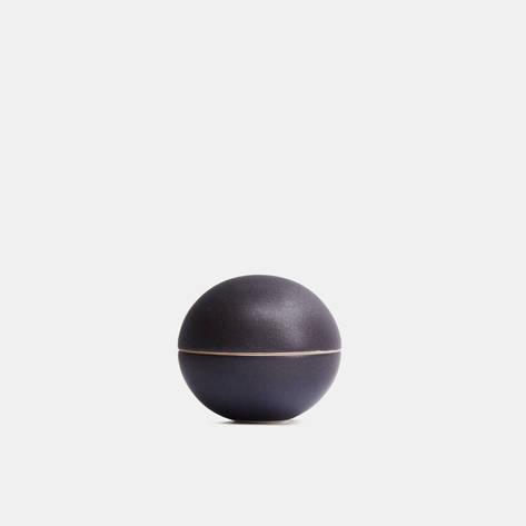 Julie Bonde — Matte Black Mini Spherical Lidded Container