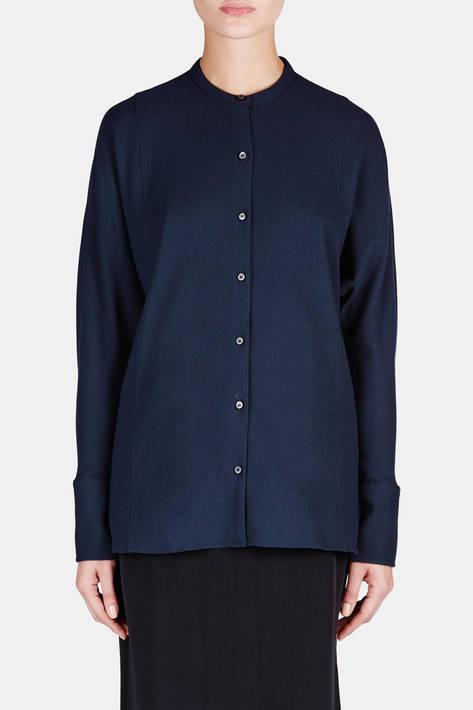 Lemaire — Bat Sleeve Shirt - Midnight Blue