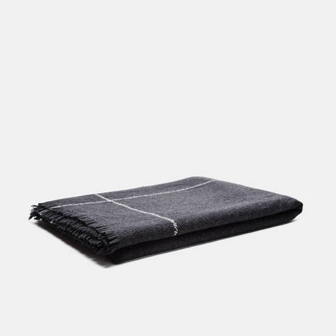 Tenfold — Check Cashmere Throw