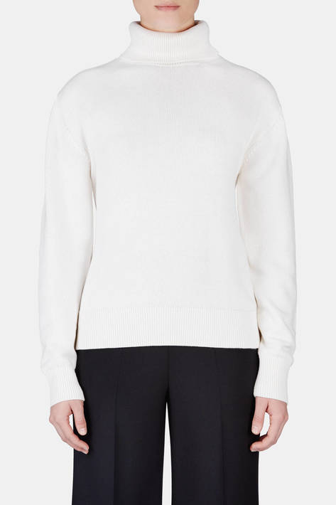 Victor Glemaud — Back Slash Turtleneck - White